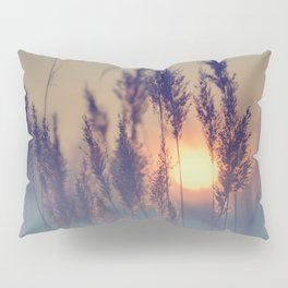 Winter sun in the reed Pillow Sham