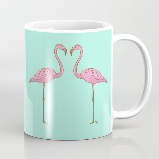 pink flamingo mug by hypathie aswang society6. Black Bedroom Furniture Sets. Home Design Ideas