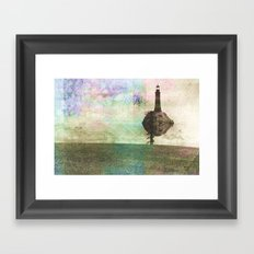 the only place to be high Framed Art Print