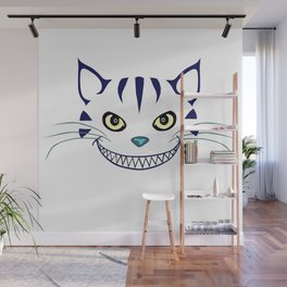 Grinning  Cheshire Cat Wall Mural