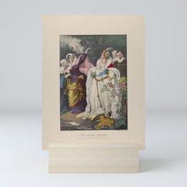 The Rival Queens – Mary Queen of Scots Defying Queen Elizabeth,1857–72 Mini Art Print