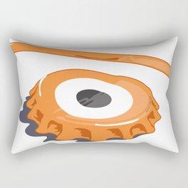 bottle eye cap Rectangular Pillow