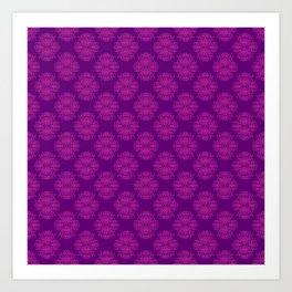 Purple Damask Art Print