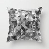 matrix Throw Pillows featuring moon matrix by Kingu Omega