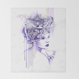 Miss Saint Petersburg Throw Blanket