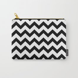 Chevron (Black & White Pattern) Carry-All Pouch