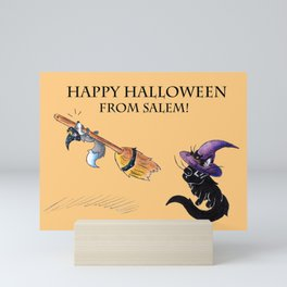 Lessons in Witchery (Happy Halloween) Mini Art Print