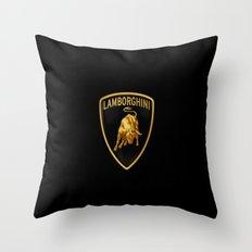 Lamborghini black Throw Pillow