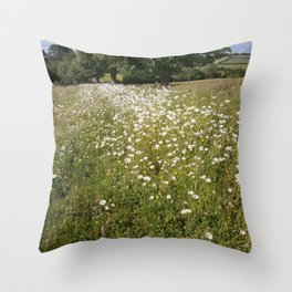 Path of Daisies Throw Pillow