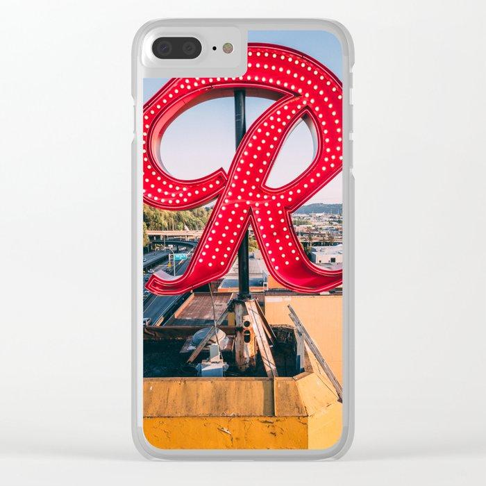 """Rainier """"R"""" Clear iPhone Case"""