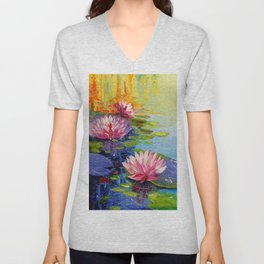 Pond and Lily Unisex V-Neck