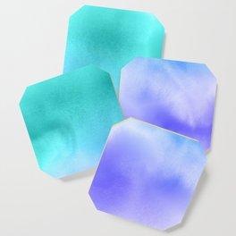Blue Abstract Sky Coaster