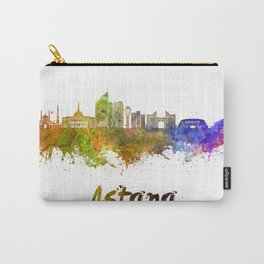 Astana skyline in watercolor Carry-All Pouch