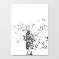 bane Canvas Prints featuring Bane by justjeff