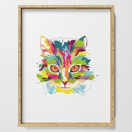 Cat Colorful Variation Serving Tray