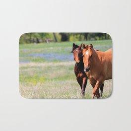 Horses & Bluebonnets II Bath Mat