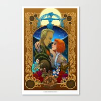 fifth element Canvas Prints featuring The Fifth Element by eva cabrera