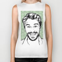 james franco Biker Tanks featuring Franco by naidl