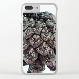 Pine cone in Lapland Clear iPhone Case