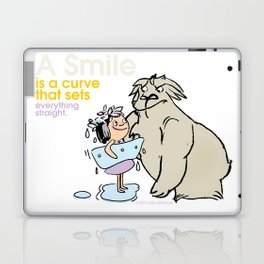 A Smile is a curve that sets everything straight. Laptop & iPad Skin