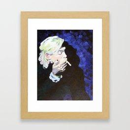 Nicotine Break Framed Art Print