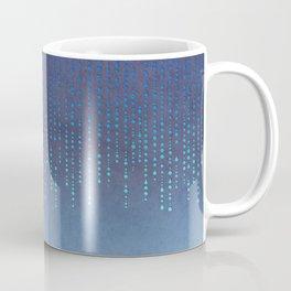Dark Glamour blue faux glitter rhinestones Coffee Mug