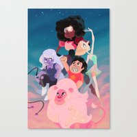 steven universe Canvas Prints featuring Steven Universe by Taylor Barron