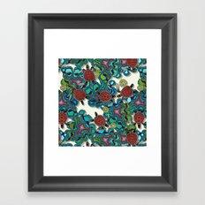 turtle reef Framed Art Print