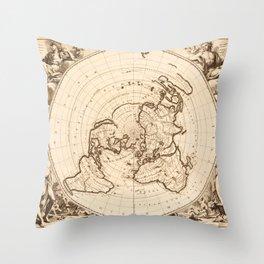 World Map circa 1713 (Planisphere terrestre) Throw Pillow