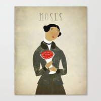 roses Canvas Prints featuring ROSES by Beati
