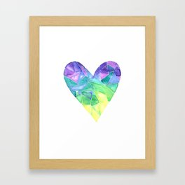 Succulent Heart Framed Art Print