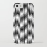 herringbone iPhone & iPod Cases featuring Herringbone Black by Project M