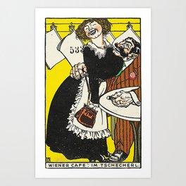 Viennese Café: In the Little Café (Wiener Café: Im Tschecherl) 1911 Art Print