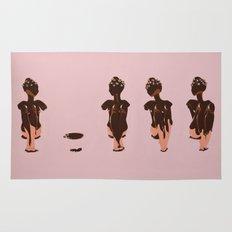 Four Chocolate Ladies Rug