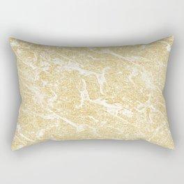 Modern faux gold glitter stylish marble effect Rectangular Pillow