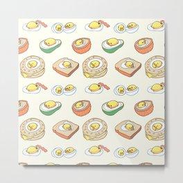Pug Egg Recipes Metal Print