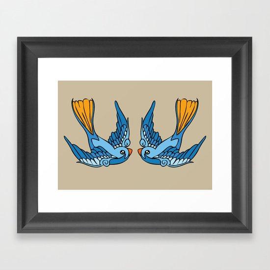 Swallow Tattoo Framed Art Print