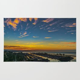Dawn over Dana Point Rug