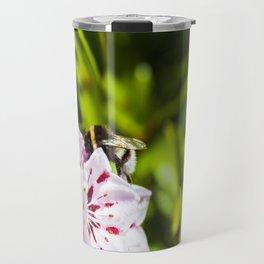 Bumblee - Pink flower  Travel Mug