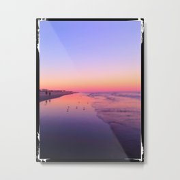 Dusk Beach in Brigantine Metal Print
