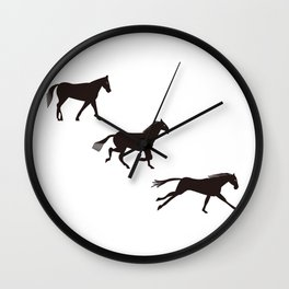 a horse runs Wall Clock