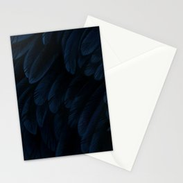 Blue feathers Stationery Cards
