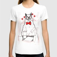 chemistry T-shirts featuring Chemistry Cat by MAKE ME SOME ART