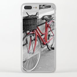 Rosy Red Riding Clear iPhone Case