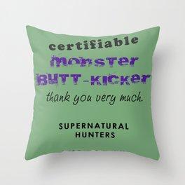 Monster Butt-Kicker Throw Pillow