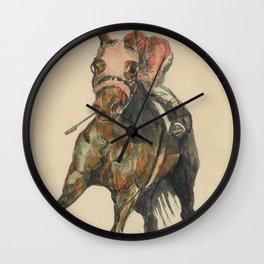 Racehorse Watercolor Wall Clock