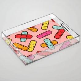 Rainbow Band-Aids Acrylic Tray