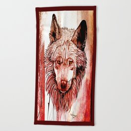 Alpha: Red Beach Towel
