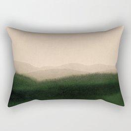 green hills Rectangular Pillow