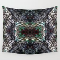 snowflake Wall Tapestries featuring Snowflake by mary olson